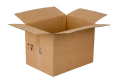 An open cardboard box Stock Image