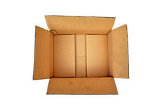 Open Cardboard Box. A Colourful Photo of an Open Card Box ready for Packaging Stock Photo