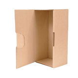 Open cardboard box. Isolated Royalty Free Stock Photos
