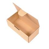 Open cardboard box. Isolated Stock Photos
