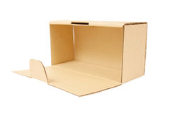 Open cardboard box. Isolated Stock Images