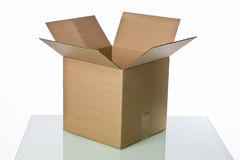 Open cardboard box isolated Royalty Free Stock Image