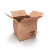 Open cardboard box Stock Photography
