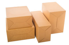 Open cardboard box isolated on white background. Open cardboard box isolated on white Royalty Free Stock Photography