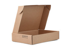 Open Cardboard Box isolated on a White background Royalty Free Stock Images
