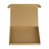 Open cardboard box with a lid Stock Images