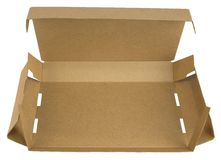 Open cardboard box with a lid Royalty Free Stock Photography