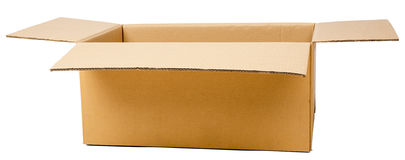 Open cardboard box. Packaging for transport Stock Photography