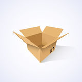 Open cardboard box. Vector illustration Stock Image