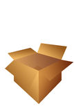 Open Cardboard Shipping Box Illustration Stock Photo