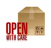 Open with care box illustration design Royalty Free Stock Photos