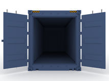 Open cargo container Royalty Free Stock Photo