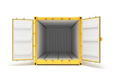 Open Cargo Container Royalty Free Stock Image