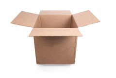 Open carton box Stock Photo