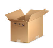 Open carton box. Computer illustration on a white background Stock Photography