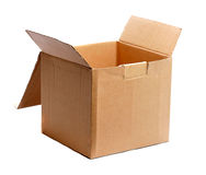 Open carton box Stock Photo