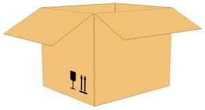Open carton box Royalty Free Stock Image