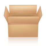 Open carton box. On white Royalty Free Stock Photo