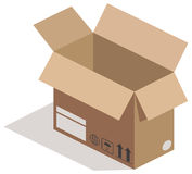 Open carton box Royalty Free Stock Photo