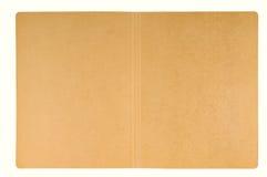 Open carton folder. A background of brown craft or open carton folder Royalty Free Stock Photography
