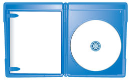 Open Case Blu-Ray Template. An open Blu-Ray case illustrated to allow for the addition of graphics to both the book cover and disk stock illustration