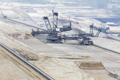 Open cast coal mining Stock Images