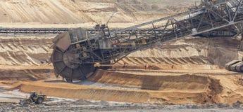 Open cast coal mining Royalty Free Stock Photos