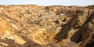 Open-cast copper mine workings Royalty Free Stock Image