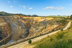 The open cast Martha gold mine in Waihi, New Zealand royalty free stock images