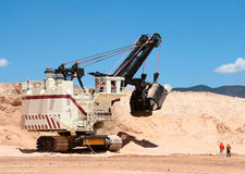 Open-cast mine Royalty Free Stock Images