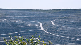 Open-cast mine on asbestos extraction Royalty Free Stock Photography