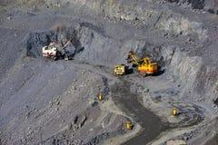 Open-cast mine extracting iron ore Royalty Free Stock Photo