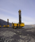 Open-cast mine, extraction of iron ore Royalty Free Stock Image