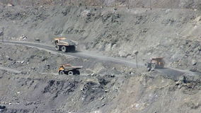 Open cast mine stock footage