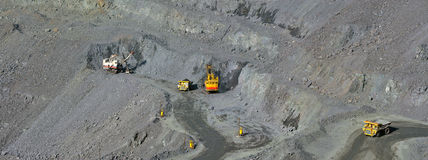 Open-cast mine of iron ore Stock Images