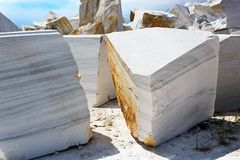 Open-cast mine on marble extraction Royalty Free Stock Images