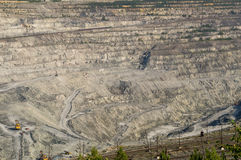 Open-cast mine on mining operations in Asbestos Russia Royalty Free Stock Image