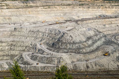 Open-cast mine on mining operations in Asbestos Russia Royalty Free Stock Photos