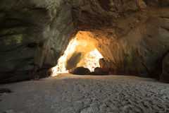 Open cave at One Thousand Steps Beach Stock Photography