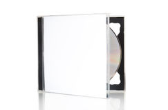 Open CD box with disc Royalty Free Stock Photography