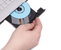 Open CD-driver Royalty Free Stock Photo