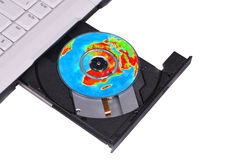 Open CD-driver.Concept Royalty Free Stock Photo