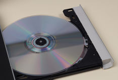 Open CD ROM Drive With CD Stock Image
