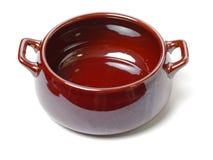 Open ceramic pot. Isolated on white background stock image