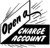Open A Charge Account Stock Images