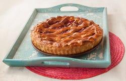 Open cherry pie Stock Photos