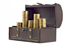 Open Chest With Money Stock Photos