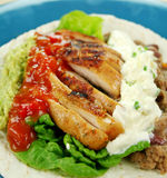 Open Chicken Tortilla Royalty Free Stock Images