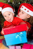 Open the children gifts Royalty Free Stock Photo