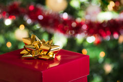 Open christmas gift stock images
